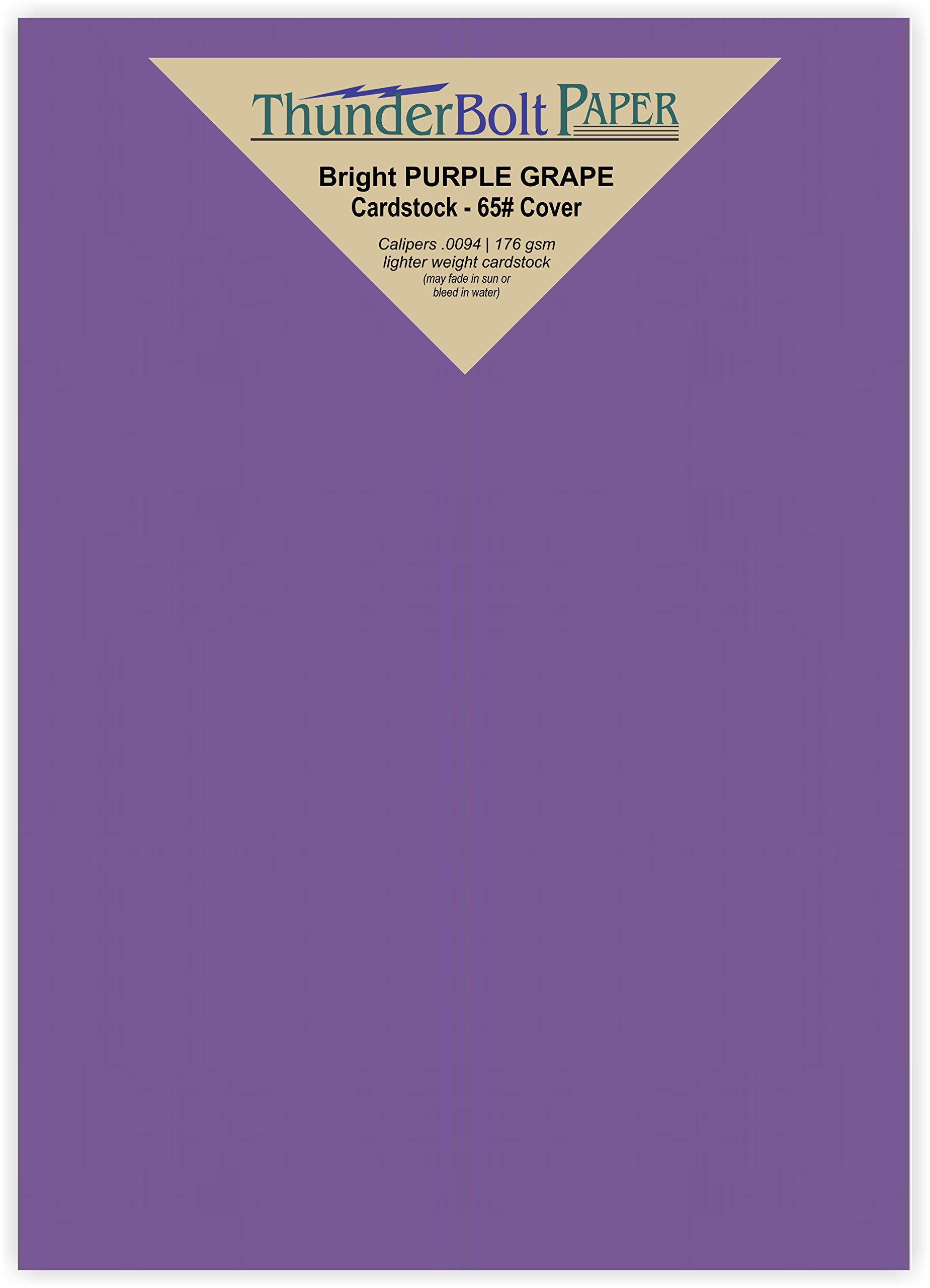 50 Bright Purple Grape 65# Cardstock Paper 5'' X 7'' (5X7 Inches) Photo|Card|Frame Size - 65Cover/45Bond Light Weight Card Stock - Bright Printable Smooth Paper Surface