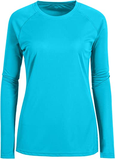 Womens Tops Moisture Wicking Tee Shirt Long Sleeve Crew Neck Running Athletic T Shirt for Women Plus Size Slim Fit