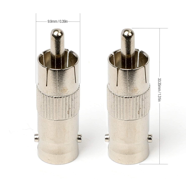 Hyber/&Cara BNC auf RCA Adapter weiblich//m/ännlich BNC Buchse auf Cinch Chinch Stecker Vergoldete
