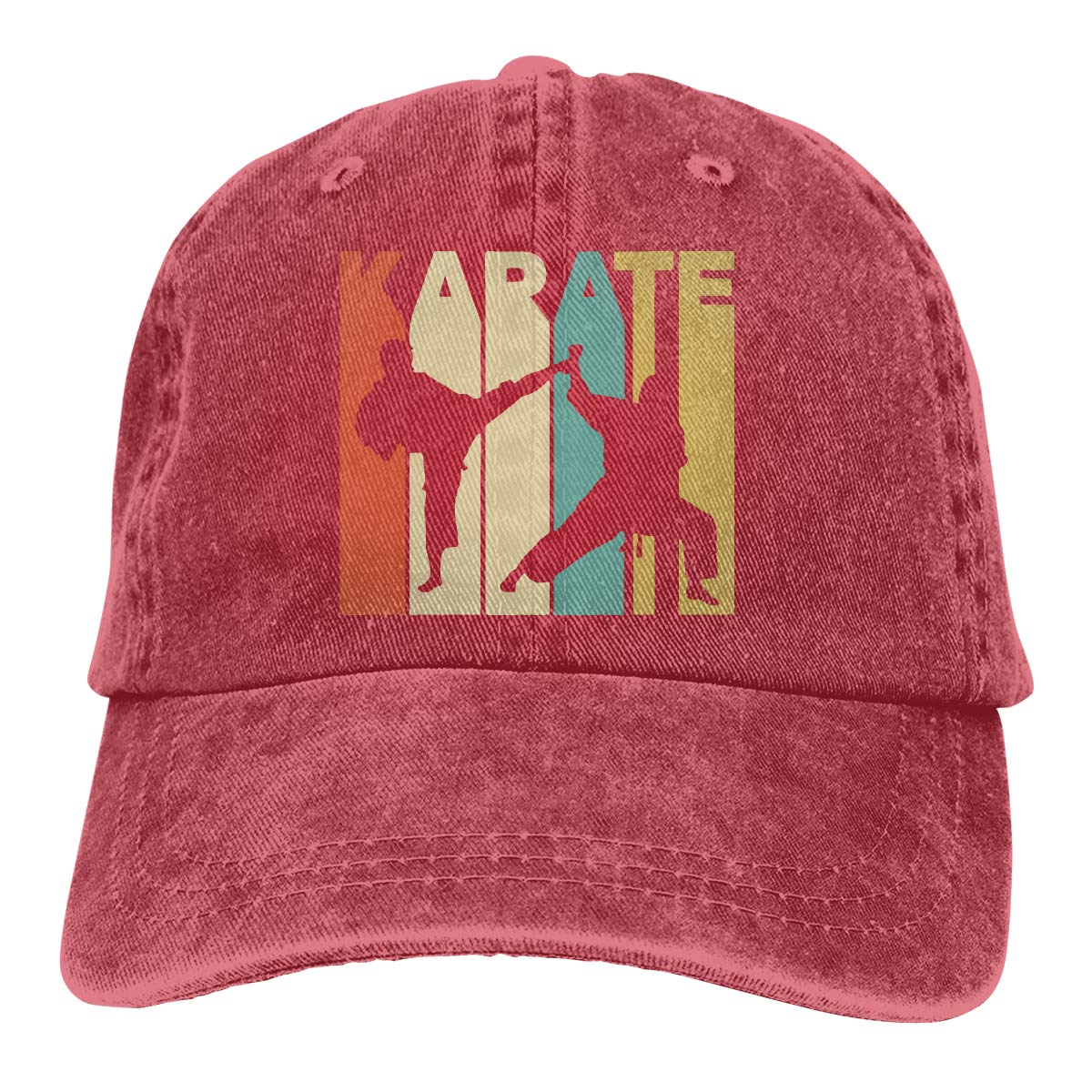 Vintage Style Karate Adult Custom Cowboy Outdoor Sports Hat Adjustable Baseball Cap