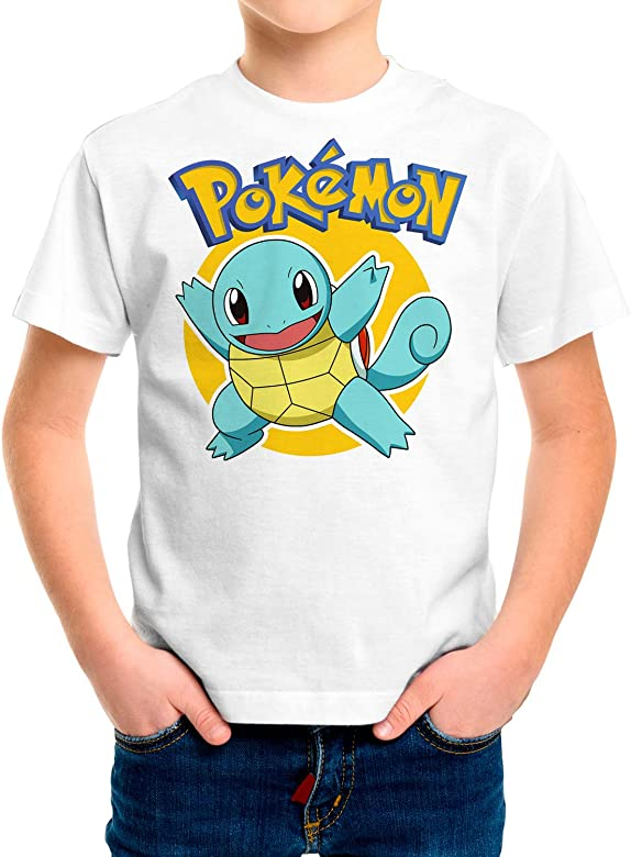 Camiseta Niño Pokemon, Squirtle (Blanco, 3 años): Amazon.es: Ropa y accesorios