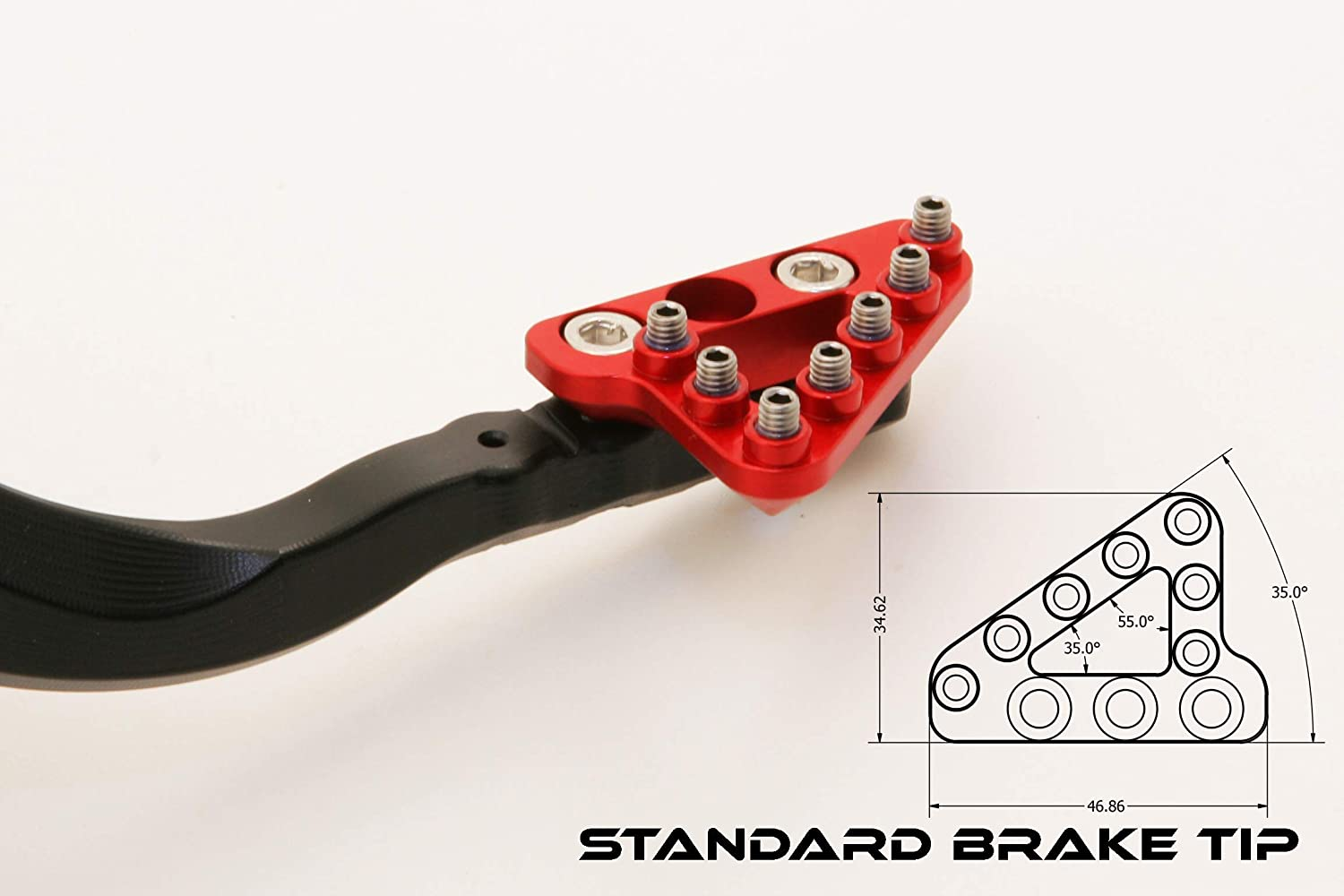 Compatible with Honda CRF450X Hammerhead Forged Rear Brake Pedal with Tip options