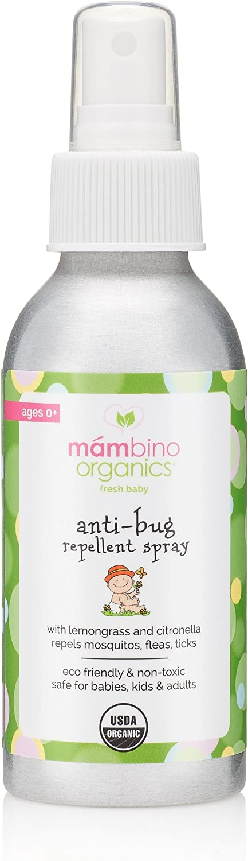 Mambino Organics Anti-Bug Mosquito Repellent Spray – All Natural, DEET-Free, Citronella Insect Repellant – 2.7 Fluid Ounces