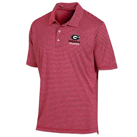 Champion Mens Georgia Bulldogs UGA Polo Striped Staduim Stripe ...