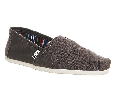TOMS - Zapatillas para hombre gris Ash Canvas 12 UK: Amazon.es: Zapatos y complementos
