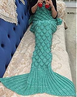 Meerjungfrau Decke Handgemachte Gestrickte Nixeendstck Sofa Quilt Wohnzimmer Alle Jahreszeiten Schlafsack
