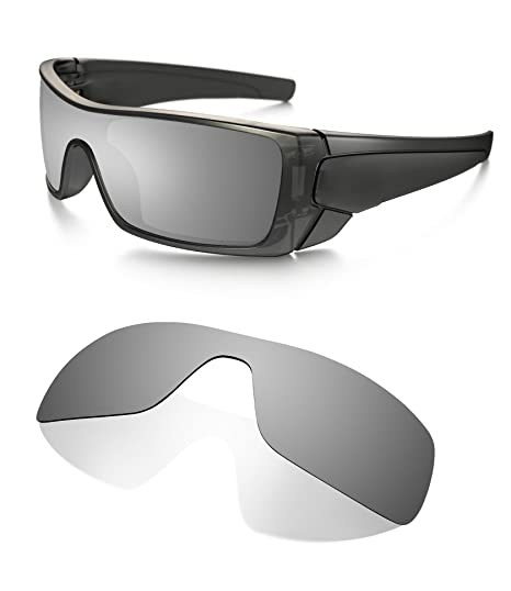 891f18f37ac Littlebird4 1.5mm Polarized Replacement Lenses for Oakley Batwolf Sunglasses  - Multiple Options (Black Iridium