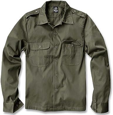 Brandit US Camisa Manga Larga verde oliva L: Amazon.es: Ropa y accesorios