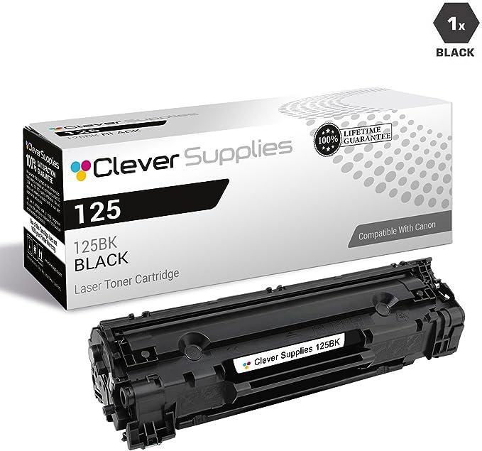 1pk Black Toner Cartridge for Canon 125