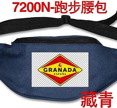 Granada España Moda Cintura Packs Running Cintura Bolsas Grande Fanny Pack Slip Algodón Durable Bolsa Azul Marino Talla única: Amazon.es: Equipaje