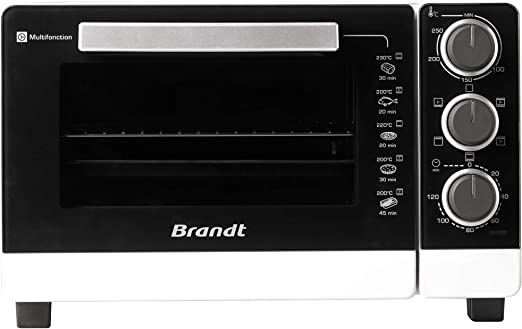Brandt FC215MW Mini horno, 1380 W, 21 litros, Blanco y negro: Amazon.es: Hogar