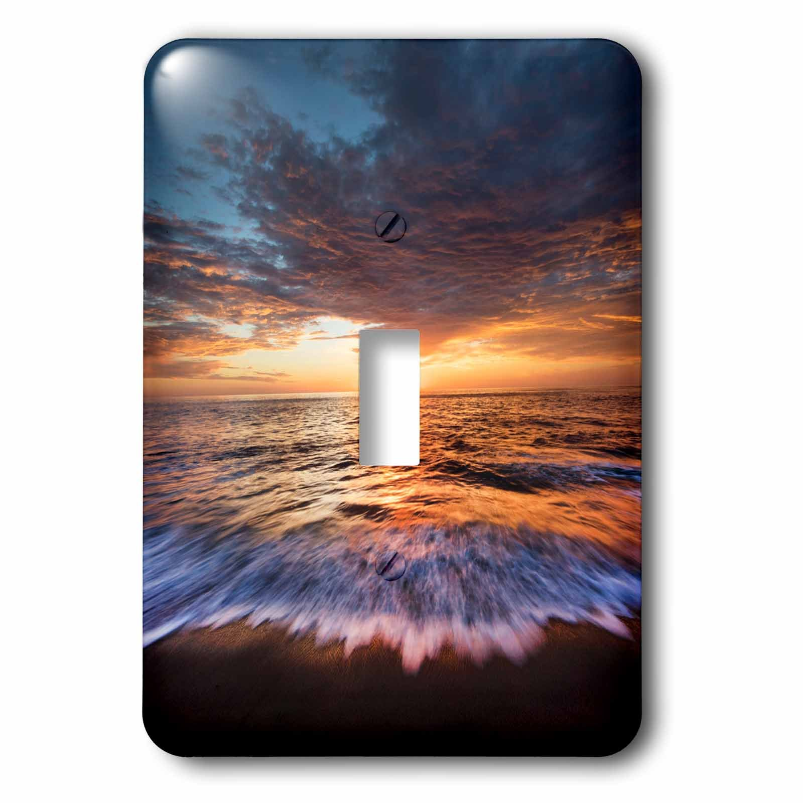 3dRose Danita Delimont - Beaches - USA, California, La Jolla. Dranatic sunset at the beach. - Light Switch Covers - single toggle switch (lsp_278574_1)