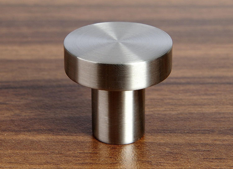 Poign/ée de meuble en acier inoxydable EK03 /Ø 30 x 28 mm