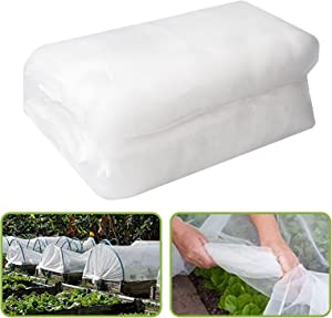 ROMAY 8 x 20 Ft Insect Barrier Netting Garden Insect Screen Garden Mesh Netting for Protecting Plants Vegetables Fruits Crops (White)