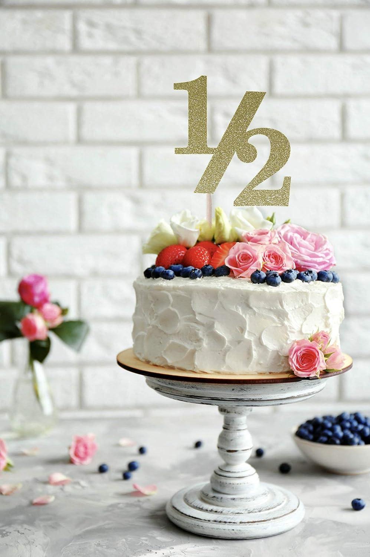 Pleasant Half Birthday Cake Topper 1 2 Birthday Cake Topper Half Birthday Personalised Birthday Cards Veneteletsinfo