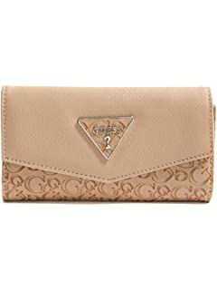 GUESS Factory Womens Desire Logo-Embossed Slim Wallet