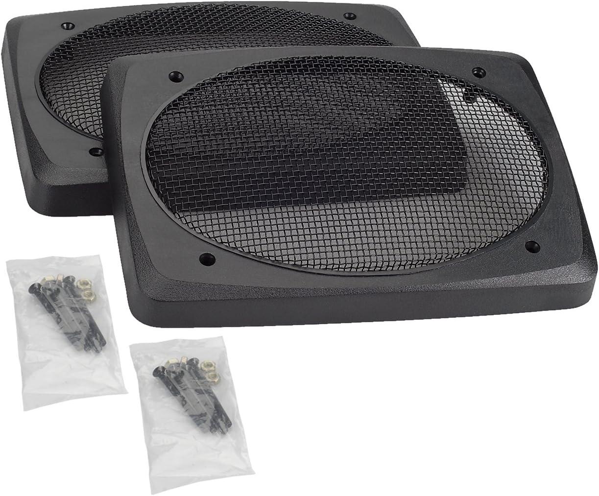 "Magnadyne G8D-Pair 8""x8"" Speaker Grill - Black Wire Mesh"