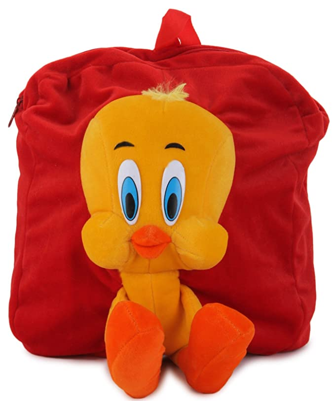 Funny Teddy Cute Lightweight Tweety School Bag for Kids with 3D Effect Use  as Travelling Bag Picnic Bag Teddy Backpack Perfect Birthday Gift (Orange)   ... 1c454114f9