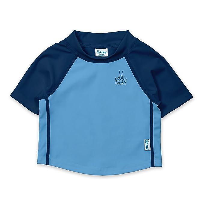 4b64bc2659 Amazon.com: i play. Toddler Boys' Short Sleeve Rashguard Shirt ...
