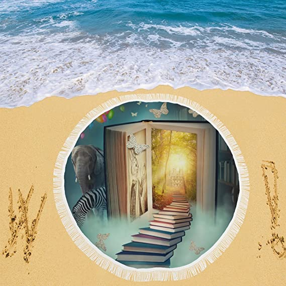 your-fantasia escaleras a la magia libro tierra Circular playa Picnic Camping playa chal exterior 59
