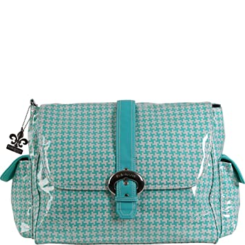 Kalencom Messenger Buckle Diaper Bag Houndstooth//Pink