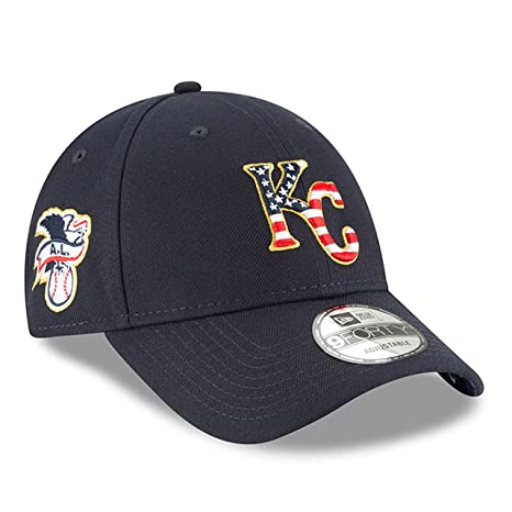 quality design e35fc 4e3b3 Image Unavailable. Image not available for. Color  New Era Kansas City  Royals 2018 July 4th Stars and Stripes 9FORTY Adjustable Hat