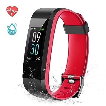 ESOLOM Pulsera Actividad, Pulsera Inteligente Pantalla Color Bluetooth Fitness Tracker Impermeable IP68 con Pulsómetros, Cardíaco Monitor para Hombres ...