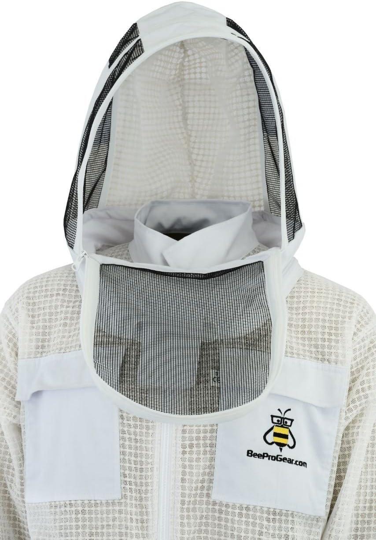 Beepro beekeeper beekeeping jacket veil outfit protective Astronaut Veil hood M