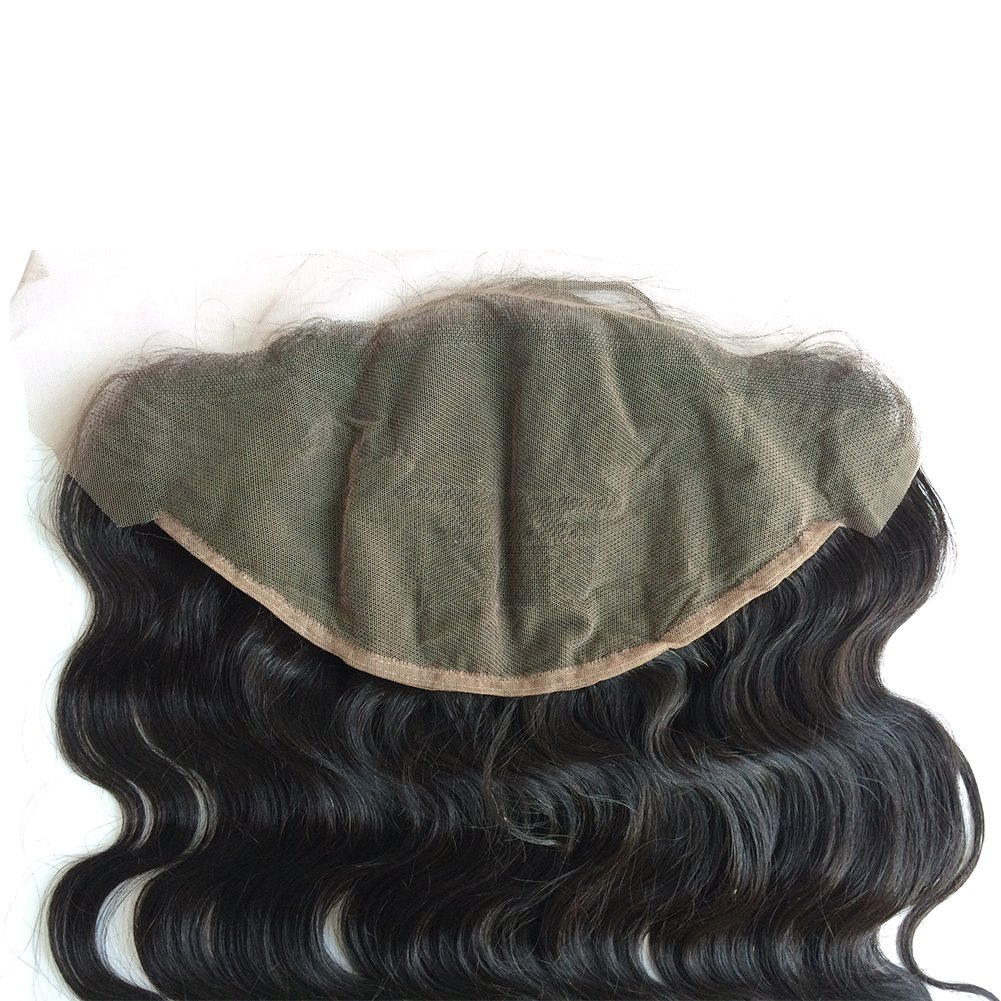 ZigZag Hair 13x6 Lace Frontal Closure Brazilian Virgin Human Hair Pre Plucked Natural Hairline Ear to Ear Full Lace Closure with Baby Hair Natural Color (20'', Body Wave) by ZigZag Hair (Image #6)