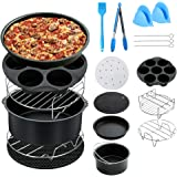 Bloodyrippa 7 Inch Air Fryer Accessories, Set of 10, Compatible with Philips Air Fryer, FDA Compliant, BPA Free, Dishwasher Safe, Non-Stick Coating, Fits All 3.2QT - 5.8QT Air Fryer