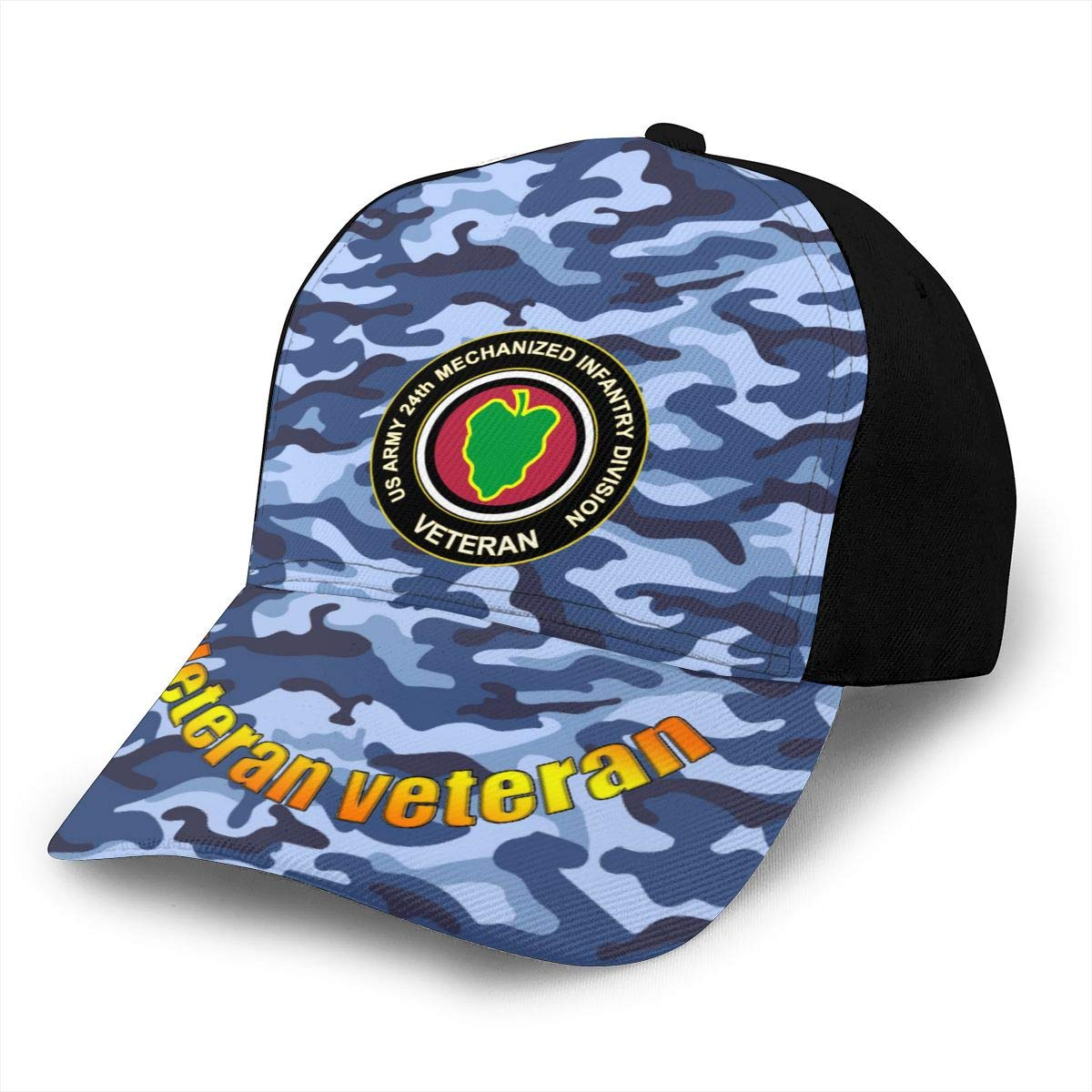 US Army Veteran 24th Mechnized Infantry Division Classic Adult Cap Printing Duck Tongue Baseball Hats Snapback Unisex Cap