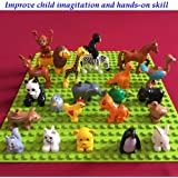 GOROCK 20pcs Animals Toddler Toys Baby Toys 12-18 Months Kids Toys Age 1 2 3 Large Building Blocks Compatible with All Major Brands