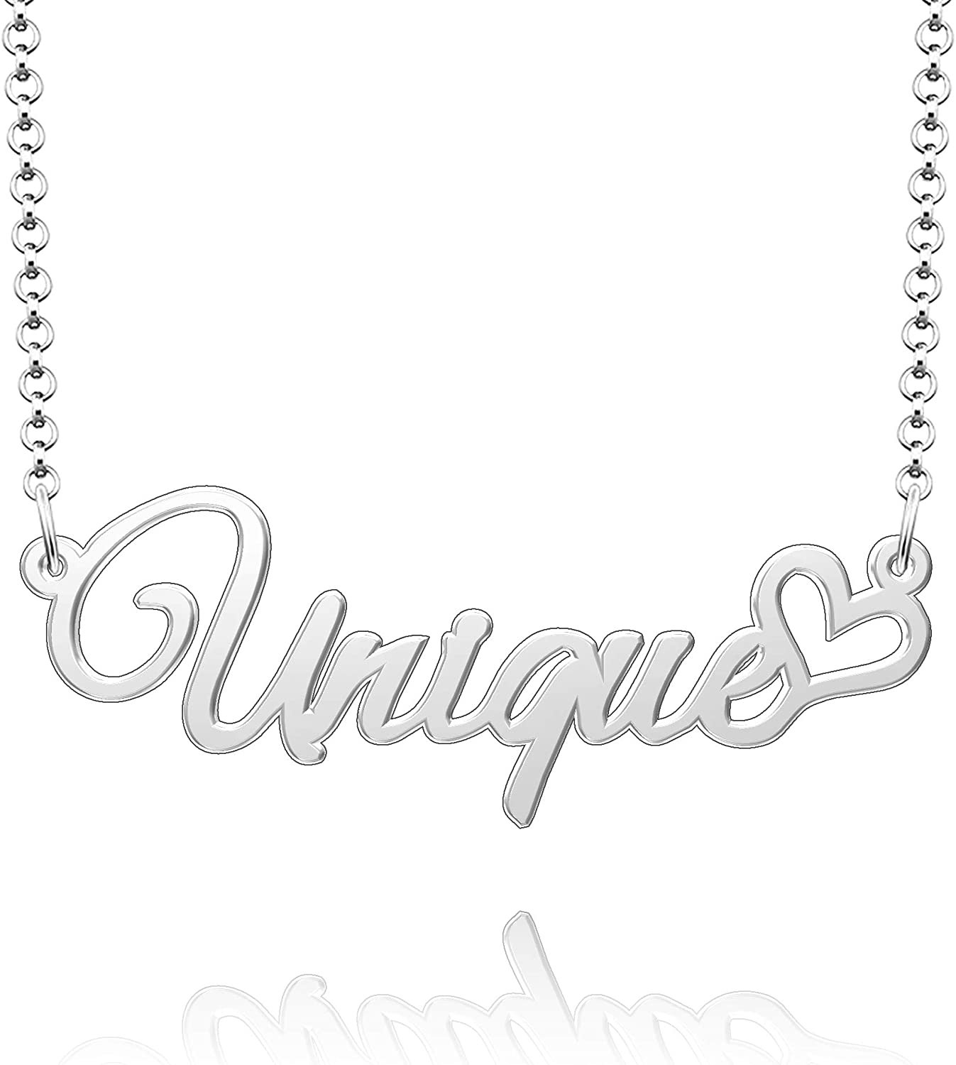 EV.YI Jewels Unique Name Necklace Silver Music Dot Cord Paw Necklaces Pink Dark Christopher