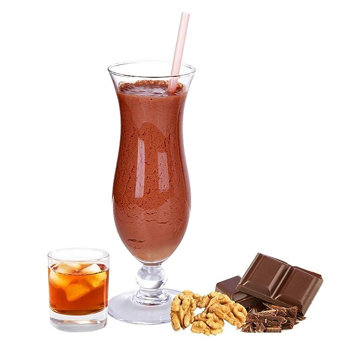 batido de leche sabor de chocolate ron gianduia nuez en polvo Gino Gelati para batidos de