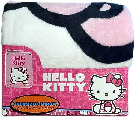 8cd7210bc Disney Princess Oversize Blanket Throw (Hello Kitty Cross Stitch):  Amazon.co.uk: Kitchen & Home