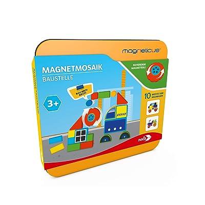 Noris Spiele 606041768Magn Eticus Magnetic Mosaic–Construction Site: Toys & Games