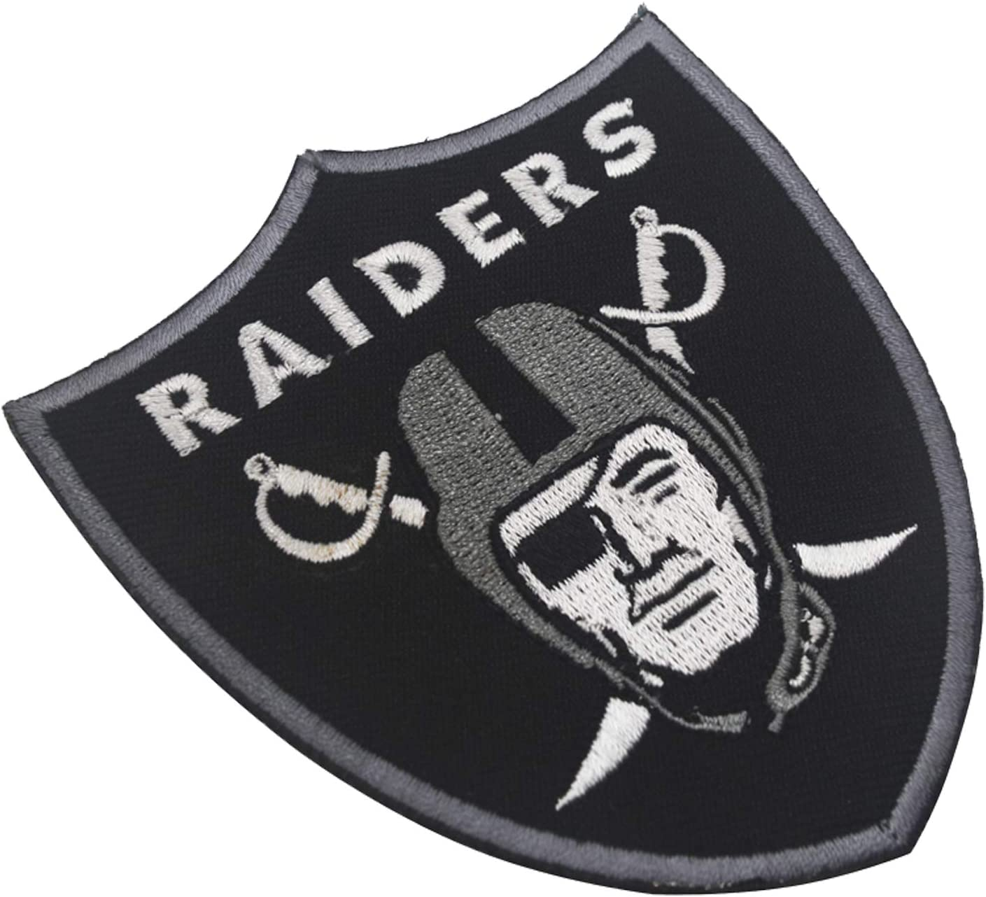Janhop 2pcs Compatible Raiders Patch 2020 Inaugural Season Tactical Hook-Backed Morale Patch Football Team Logo Jersey