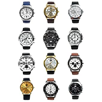 Umo Lorenzo Mens 12pc Fashion Casual Watches