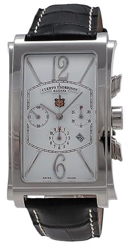 Cuervo Y Sobrinos 1014.1B - Reloj para hombres, correa de cuero: Amazon.es: Relojes