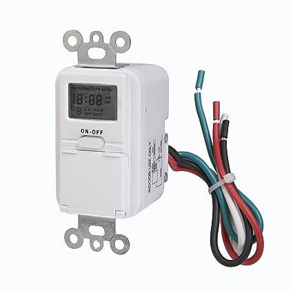 westek tmdw10 in-wall programable digital timer, 120 v 25 hp - timer light  switch - amazon com
