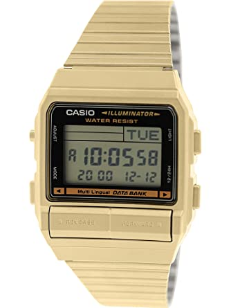 96859887d39 Image Unavailable. Image not available for. Color  Casio Men s DB380G-1 Gold  Gold Tone Stainles-Steel Quartz Watch with Digital Dial