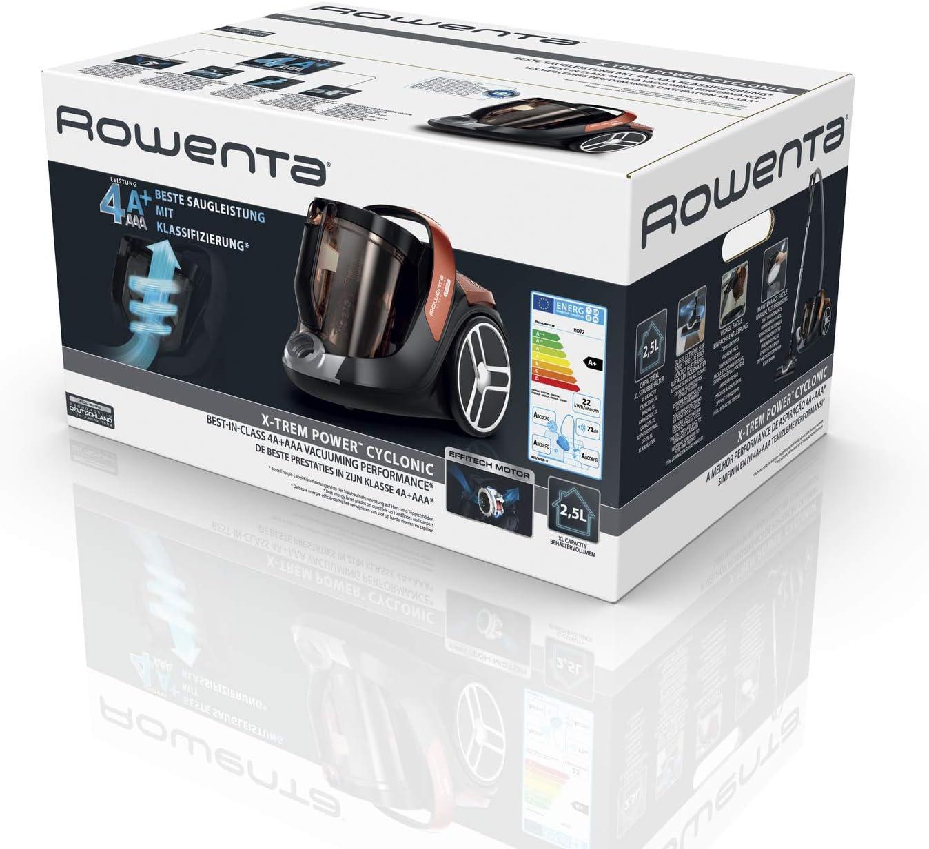 Rowenta X-Trem Power Cyclonic 4A RO7244 aspirapolvere 550 W A cilindro Secco Senza sacchetto 2,5 L