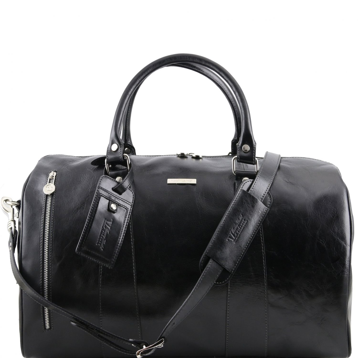 Tuscany Leather TL Voyager Travel leather duffle bag - Small size Black