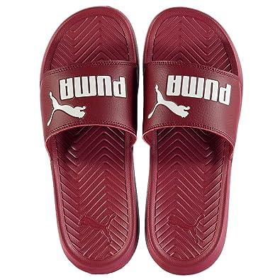 1191ef57b9a401 Puma Mens Popcat Sliders Flip Flops Pomegranate UK 8 (42)  Amazon.co.uk   Shoes   Bags