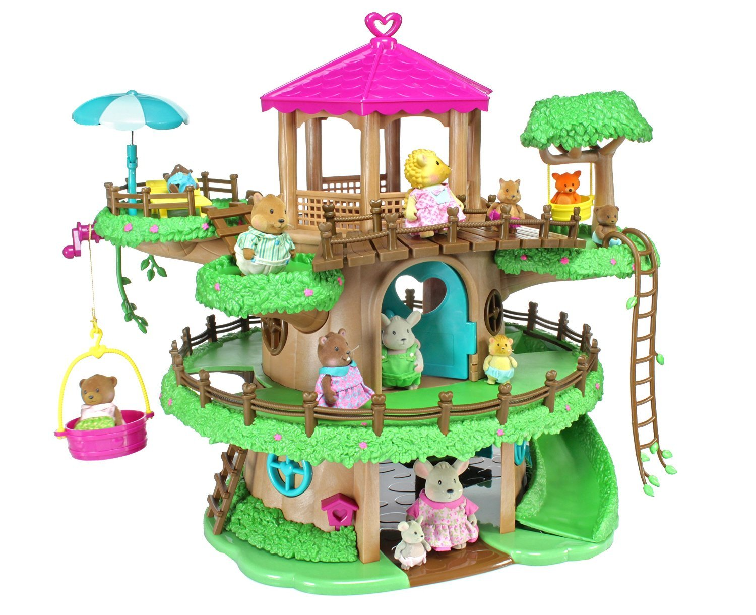 Li?l Woodzeez - Interactive Playset Accessories - Family Treehouse Playset