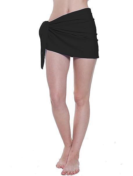 c0b564b289 QLLY Womens Beach Sarong Coverup, Chiffon Swimwear Cover up, Swimsuit Wrap,  Swim Coverup