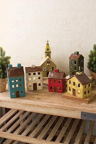 Kalalou Ceramic Village Set, One Size, Multicolored