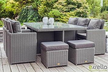 essgruppe polyrattan grau bestseller shop f r m bel und. Black Bedroom Furniture Sets. Home Design Ideas