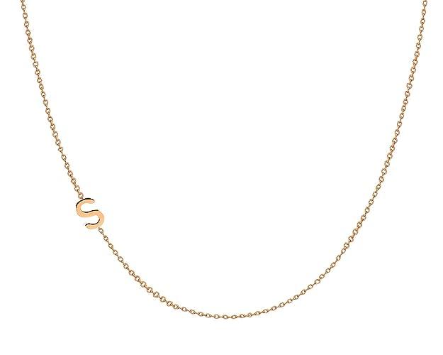 amazon com 14k gold asymmetrical initial necklace handmade