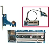 PCI-E express X1 to dual PCI riser card with 50cm USB3.0 cable